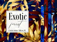 12 Exotic forest digital papers