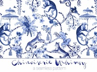 Chinoiserie Whimsy - Pattern