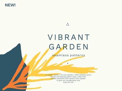 Vibrant Garden Seamless Patterns