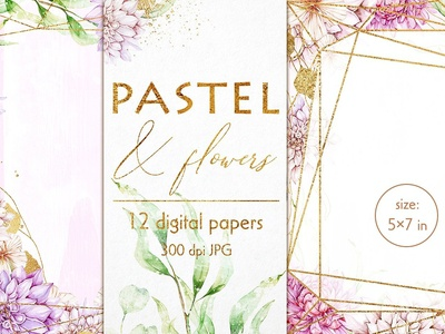 5x7 Floral invitation covers 12xJPG