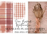 Sun Baked Watercolor Plaids