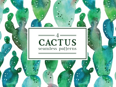 4 Cactus patterns