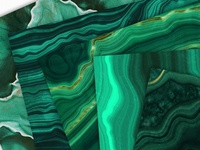 10 Malachite & Gold Mineral Textures