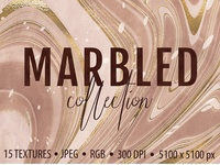 Marbled Paper Textures Collection