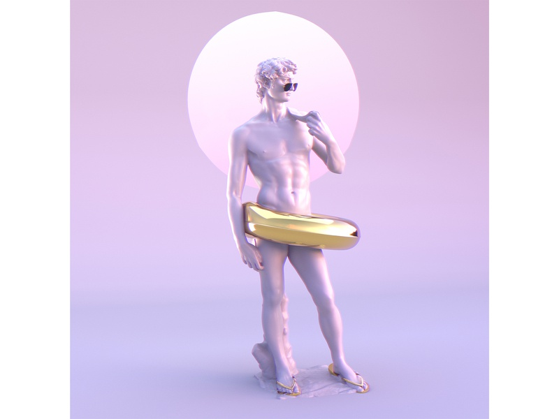 Disco David render digitalart 3d creative illustration
