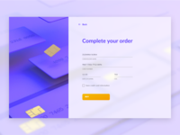 DailyUI / Credit Card Checkout colors website 3d render credit cards credit card order dailyui web check out checkout