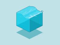 Pixel Cube : Water