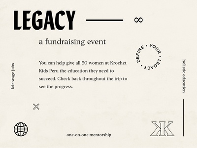 Legacy Fundraiser non profit kki retro type layout