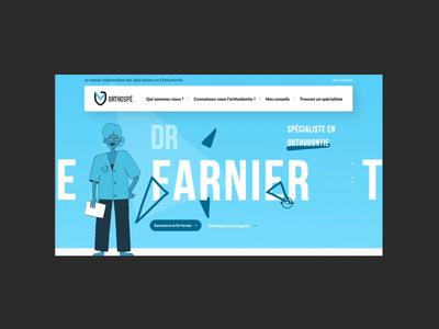 Orthospé website design web ux ui illustration
