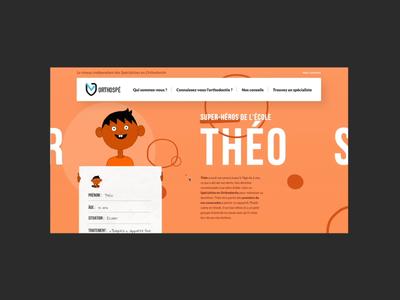 Orthospé ux ui web design website illustration