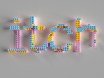Lego logo blender 3d