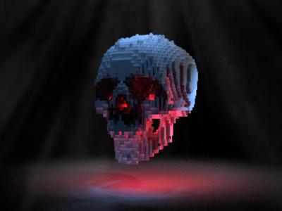 Lego skull blender3d