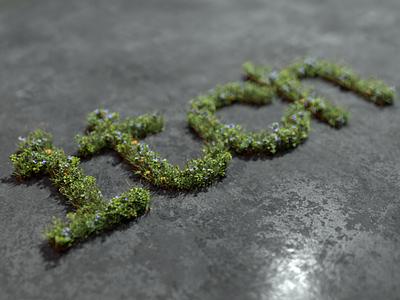 Grass logo blender3d