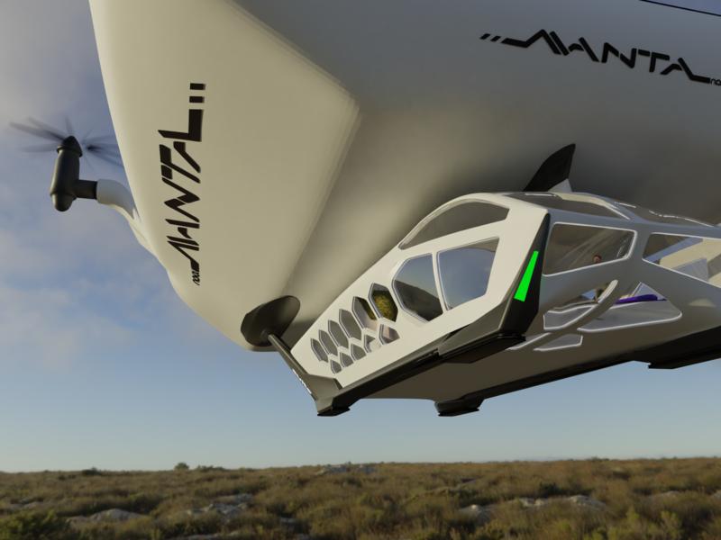 Manta sustainable transport system concept blender 3d 3d vehicle
