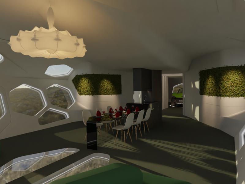 Manta sustainable transport system concept archviz  interior visualization concept blender3d
