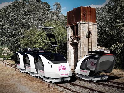 Railbug rail pod(s) concept art blender3d