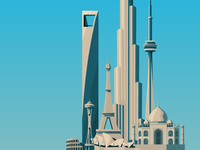 Low Poly Skyline