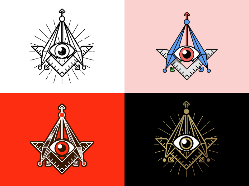 Cult of Reality lines branding concept eye iconography branding text icon cult