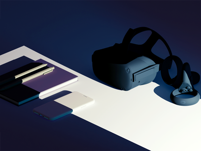 Transitioning to a Career in AR/VR headset render 3d lighting augmentedreality virtualreality