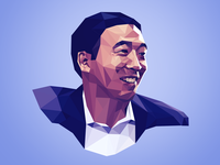 Lowpoly portrait of Andrew Yang