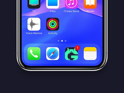 GearMonster App icon logo branding app branding gear music monster app app icon