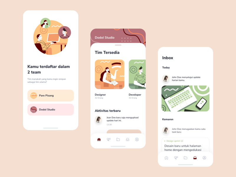 Office Management App task forum discussion meeting interation human team work icons collaboration homepage ui illustration management office desktop app