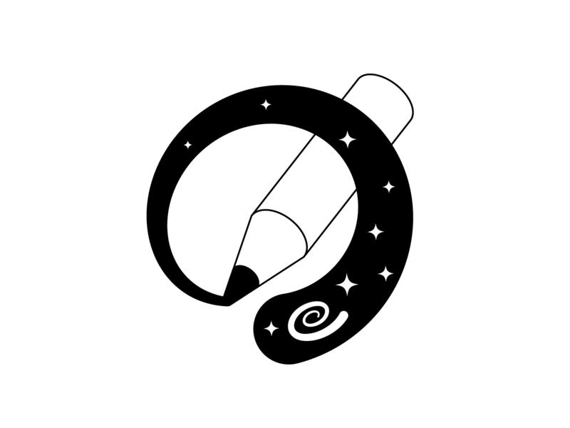 Minimalism of storytelling identity typegram black and white minimalism simple branding sign logo design logo illustaror vector