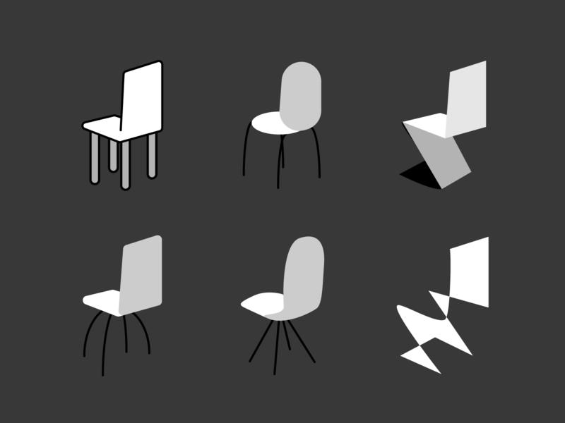 Ceci n'est pas une la chaise pipe chair composition forms signs black and white design illustration vector illustaror
