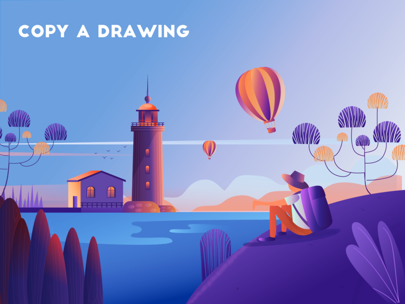 copy a drawing design ux 插图 ui illustration