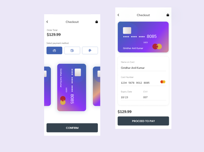 Credit Card Checkout payment app payment credit card design 002 dailyui