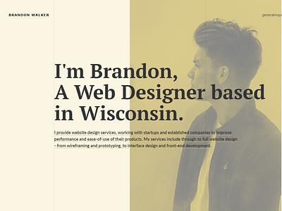 Brandon Walker - Webflow Portfolio Template template design template ui animation ui website web development design web design website builder webdev webflow