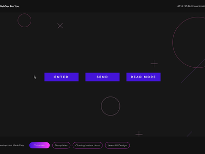 Webdev For You - Daily Interaction #116 buttons button states button design button animation ui ux design website web development design web design website concept website builder webflow webdev ui animation ui