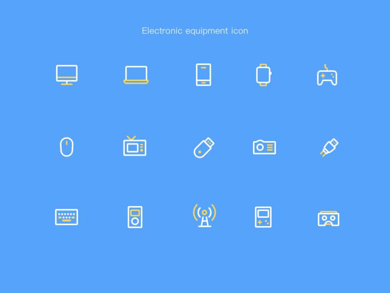 电子设备图标 平面 动画 活版印刷 商标 卷筒纸 插图 品牌 应用 向量 图标 ux 设计 ui