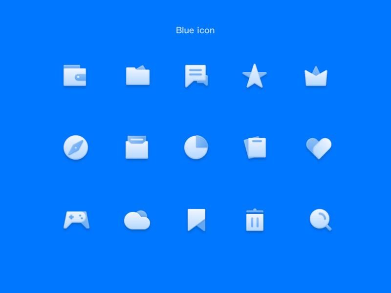 Blue icon 平面 动画 商标 活版印刷 卷筒纸 品牌 插图 应用 图标 向量 设计 ux ui