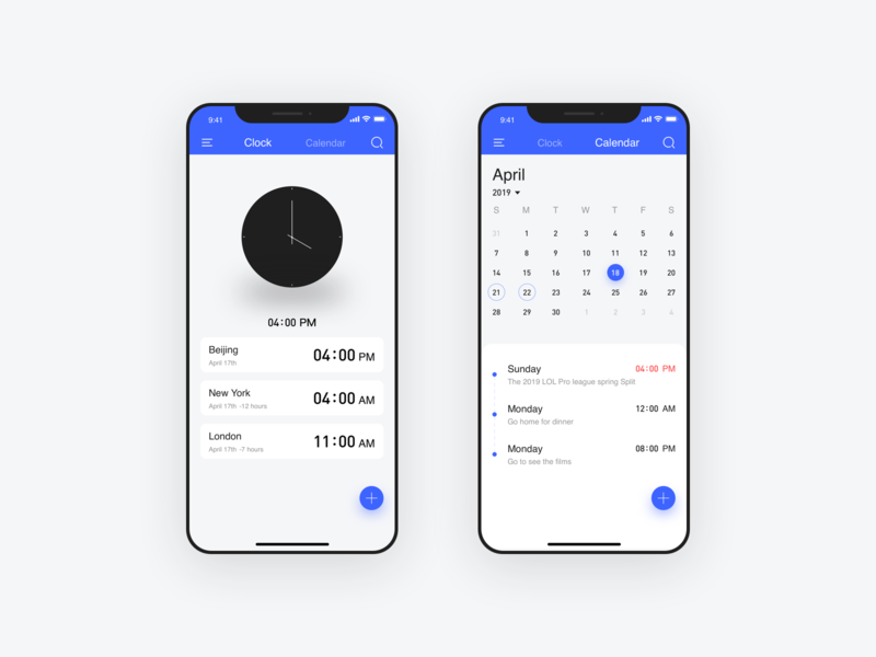 Clocks and Calendars Interface 平面 动画 活版印刷 卷筒纸 插图 商标 应用 品牌 向量 图标 ux 设计 ui