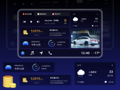 Vehicle machine interface ui 设计 design 应用
