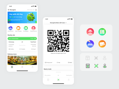 Metro APP interface concept design