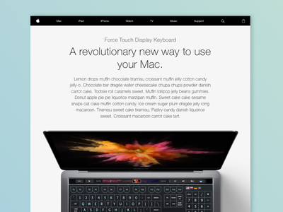 Apple Force Touch Display Keyboard - Concept keyboard display touch force
