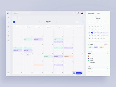 Invoice webapp - calendar (animation) transitions finance dashboard calendar clean web animation app ui