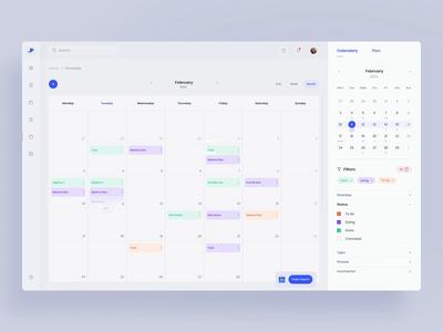 Invoice webapp - calendar (animation)