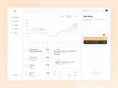 Incomes / Expenses - app 🔥 account tax income menu sidebar chart stats desktop finance cards ui app dashboard