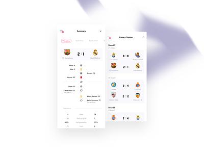 Football app flat minimal iphone table soccer fifa worldcup football ui mobile app
