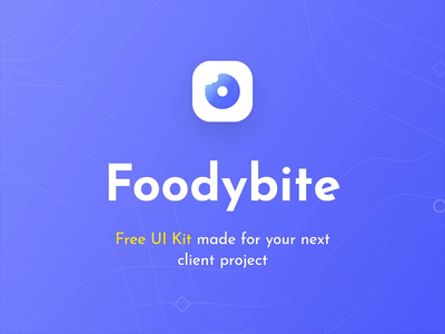 Foodybite - Free UI Kit for Adobe XD iosapp mobile uikit reaturant simple ios prototyping uxdesign uidesign ux ui uiux animated 2020 adobe xd free app food clean blue
