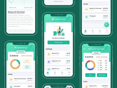 Ember Fund Mobile App Redesign app simple design clean ui simple clean interface appdesigner appdesign simple fund green ios app uxdesigns mobileappdesign ios uiuxdesign ux ui uiux uidesign uxdesign iosapp