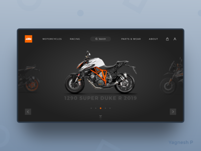 Daily UI Challenge #003 dark concept bike simple product dailyui003 dailyui dailychallange webdesign minimal interface landingpagedesign design ui clean madewithxd ui  ux design adobe xd