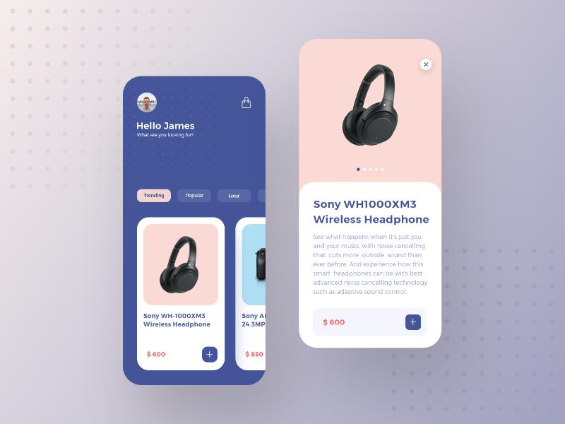 E- Commerce App Concept simple minimal clean ecommerce uidesign design e-commerce app inspiration cart shopping app shopping app ui appdesign app adobe xd