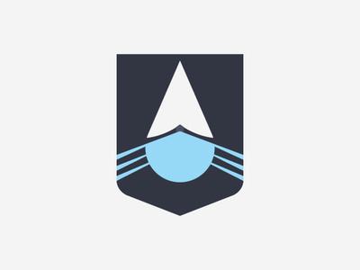 Empire Flag Logo flag naval transport ship water drop
