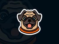 Pug Logo Mascot