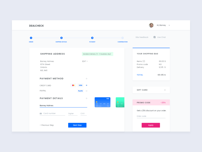 Credit Card Checkout Page website website design web design web user experience ux user inteface ui uiux credit card checkout chackout page checkout interface design dailyuidesign dailyuichallenge dailyui oo2 dailyui adobexd 100daysofui