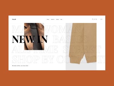 DressIt . Fashion Platform Homepage